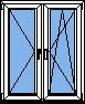 Двух-секционные пластиковые окна ПВХ