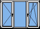 Трех-секционные пластиковые окна ПВХ